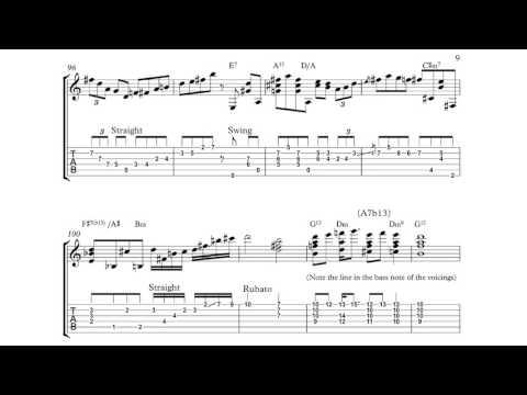 Joe Pass Ain't Misbehavin' Transcription (Solo Jazz Guitar)