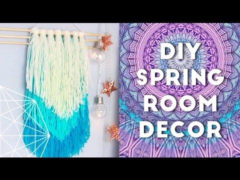 Diy spring room decor ideas and organization 2016 youtube for Diy room decor 2016