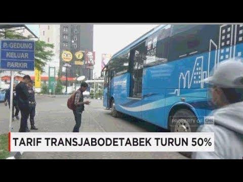 Tarif TransJabodetabek Turun 50%