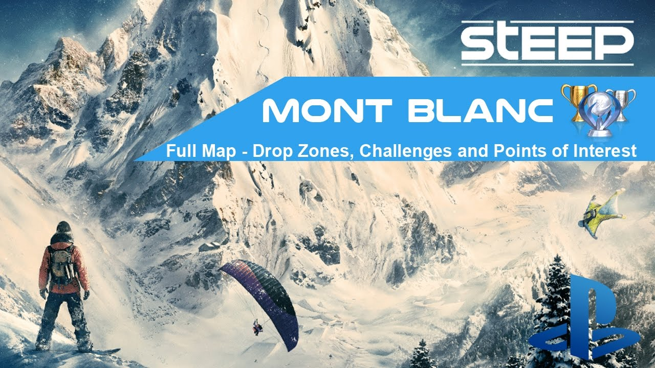 Map Of Drop Zones In France.Steep Mont Blanc Full Map All Drop Zones Challenges And Points Of