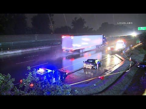 Freeway Crash / Sherman Oaks  RAW FOOTAGE thumbnail