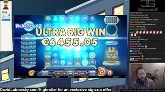ULTRA WIN!! Reactoonz €10 bet  Casino monster hit