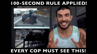 100-Second Rule PERFECTLY Applied by Jiu-Jitsu Cop!