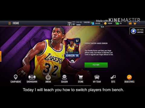 How To Switch Players From Bench In NBA Live Mobile