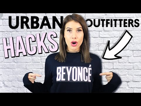 URBAN OUTFITTERS Clothing Hacks! Easy DIY Tumblr Clothes