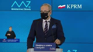 Adam Niedzielski, Andrzej Horban - konferencja nt. wprowadzenia dodatkowych ograniczeń