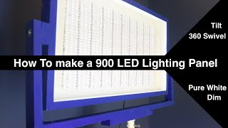 Dimmable/Tiltable/Swivelable 900 LED Light Panel (72Watt) // How to //DIY(Professional LED panels are really expensive! Like $300+ expensive! In this video we will make a 900 LED panel for less than $50. There is a catch though to ..., 2016-02-19T21:44:05.000Z)