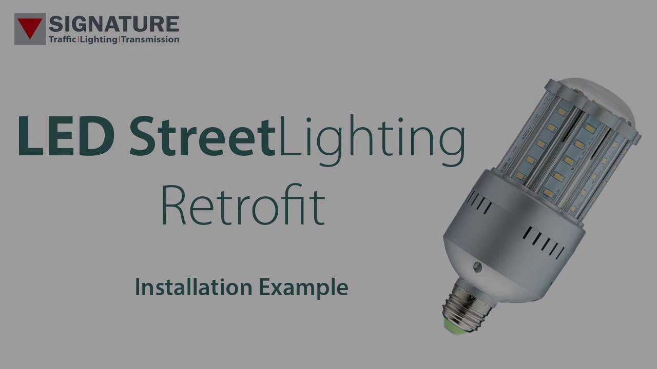 How To Upgrade Son Street Lighting Led Using An Retrofit Lamp