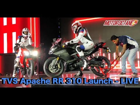 TVS Apache RR 310 Launch - LIVE - Price Rs 2.05 lakhs (ex-showroom)
