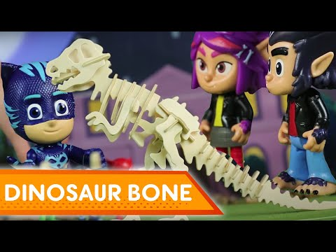 Mystery Dinosaur Bone! 💜 PJ Masks Creations | Play with PJ Masks