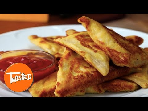 Cheesy Bacon French Toast Triangles Recipe  | Twisted