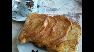 Быстрый завтрак! Рецепт вкусных гренок!