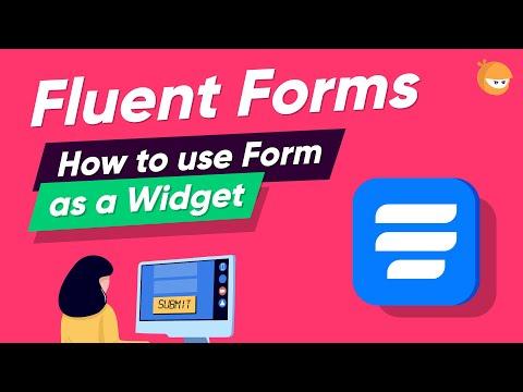How to Add Custom Form Widget in WordPress | WP Fluent Forms