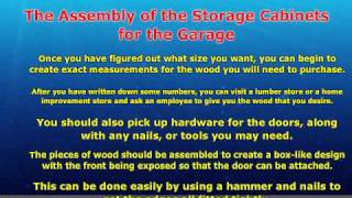 How To Build Your Own Garage Storage Cabinets