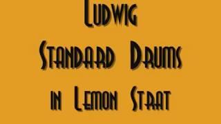 Early 70's Ludwig Standard Drum Set in Lemon Strata