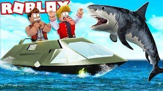 SOBREVIVA AO TUBARÃO GIGANTE NO ROBLOX ! (SharkBite)