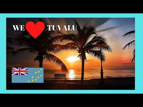 TUVALU: Beautiful GOLDEN SUNSETS of the PACIFIC OCEAN viewed from the lagoon