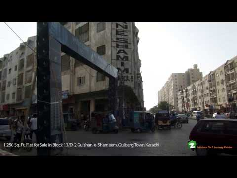 FLAT IS AVAILABLE FOR SALE IN GULSHAN-E-SHAMEEM GULBERG TOWN KARACHI