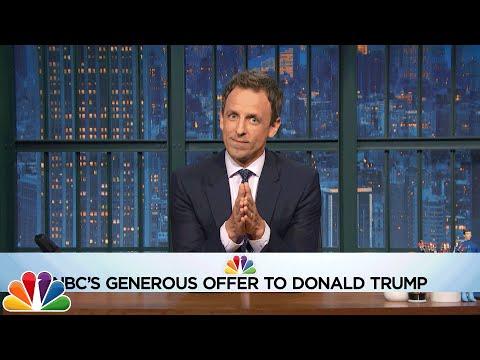 Seth Makes Trump an Amazing Offer