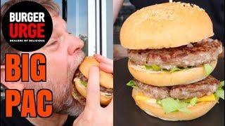 Burger Urge BIG PAC Burger Review - Trying Alpaca Meat for the First Time