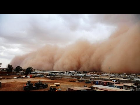 Sand Dust Storm Rain in Muscat Today 2018