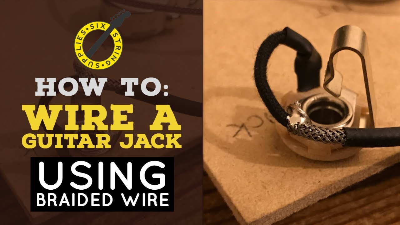How To Wire A Guitar Jack Youtube Switchcraft Input Wiring Diagram