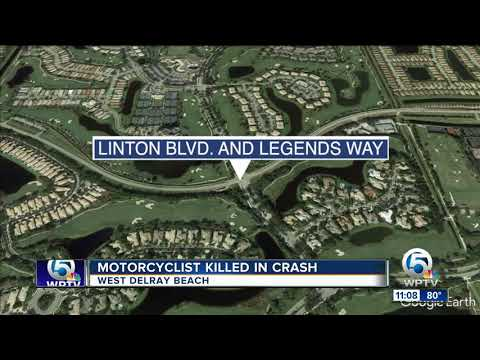 Motorcyclist Killed In Crash Thursday In West Delray Beach