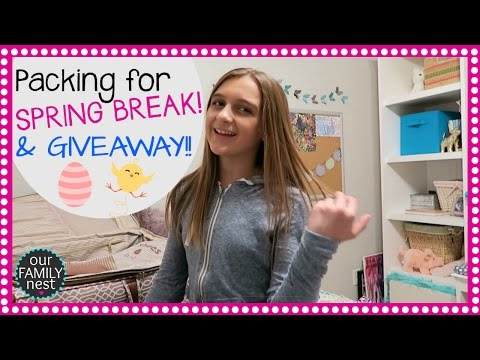 PACKING FOR SPRING BREAK & T-SHIRT GIVEAWAY