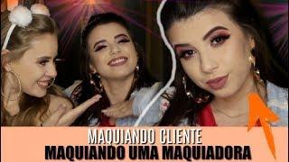 MAQUIANDO CLIENTE TESTANDO MAKES DA BEAUTY FAIR COM NATH FREIRE  | Amanda Pastore
