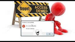 """How to fix """"Access is denied"""" on a Partition 