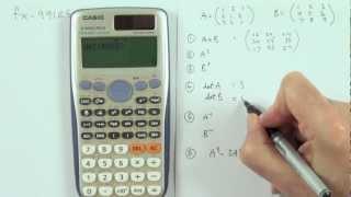 Matrix calculations using the Casio fx991ES PLUS calculator