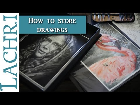 How to store finished colored pencil and graphite drawings -  Art Q&A w/ Lachri