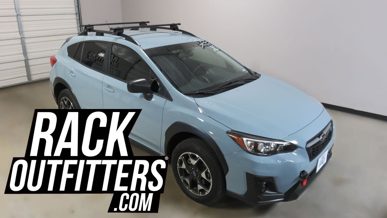 Subaru Crosstrek With Yakima Timberline Corebar Roof Rack Crossbars Youtube