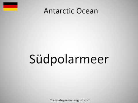 How to say Antarctic Ocean in German?