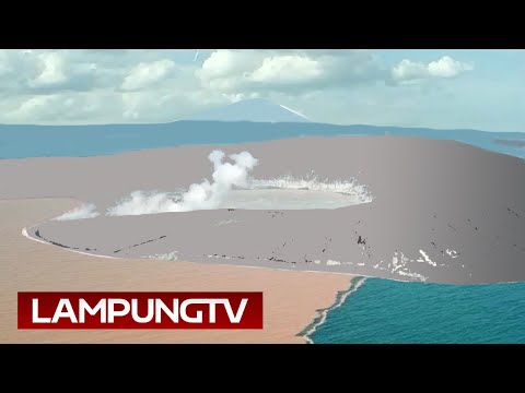 Dalam Sepekan, Kawah Anak Krakatau Kembali Berdinding