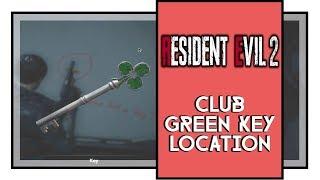 Resident Evil 2 Remake Club Key Location (Green Key, Only Leon)