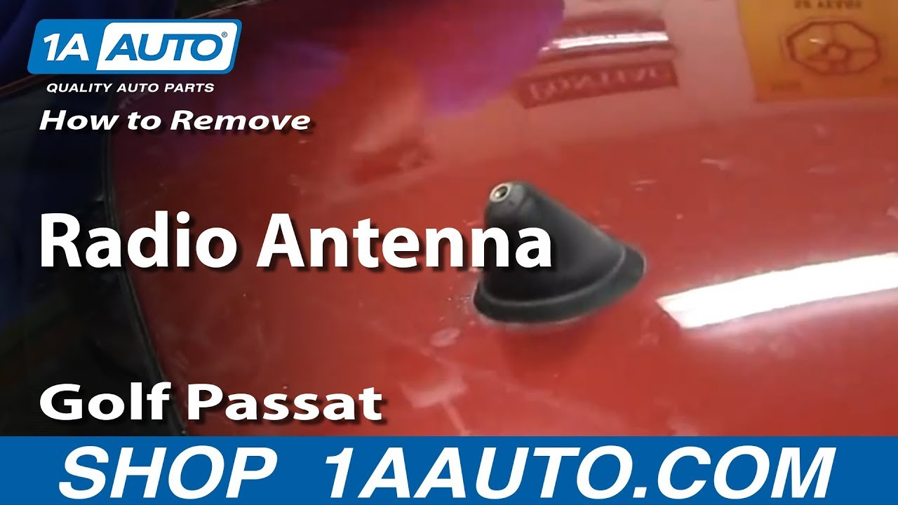 how to replace antenna mast assembly 1997 2011 volkswagen jetta golf or passat 1a auto [ 1280 x 720 Pixel ]