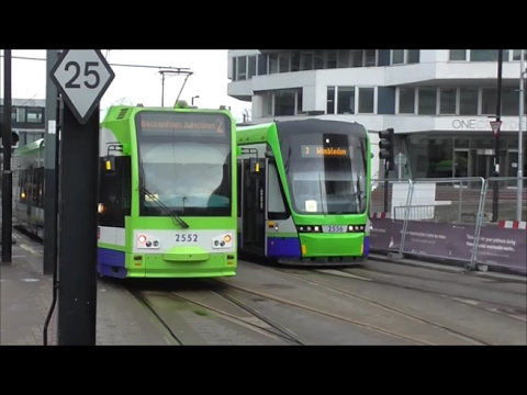 Tramlink Trams Around East Croydon - 4th February 2017