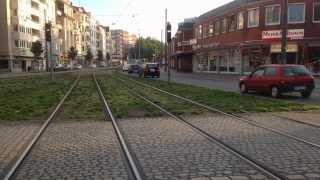 BSAG Fahrt mit der Straßenbahn Linie 4 in Richtung Bremen Arsten
