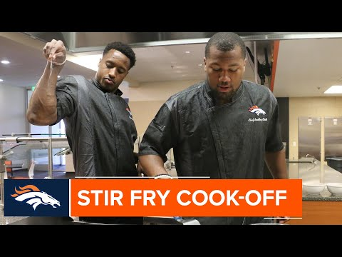 Bradley Chubb and Courtland Sutton throw down in a cooking battle ahead of 'Taste of the Broncos'