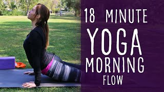 Video 18 Minute Morning Vinyasa Flow Yoga with Fightmaster Yoga download MP3, 3GP, MP4, WEBM, AVI, FLV Maret 2018