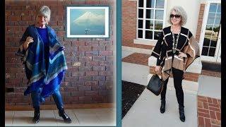 Мода и стиль.Модели пончо для женщин старше 50 лет