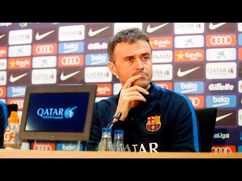 Rueda de prensa de Luis Enrique previa al Deportivo Alavés - FC Barcelona