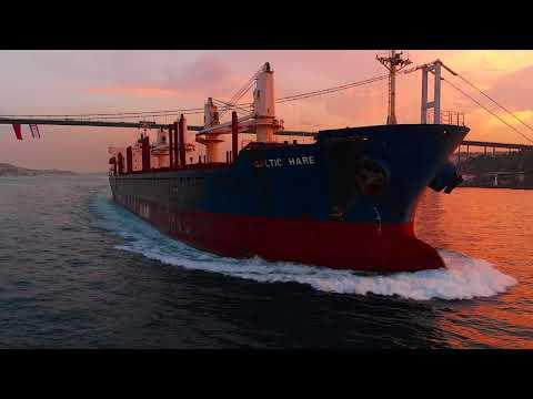 Baltic Hare Gemisi, Boğaz, Gün Batımı