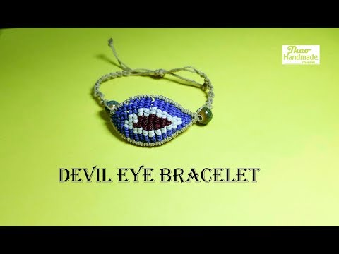 DIY Macrame bracelet - How to make a Devil eye bracelet