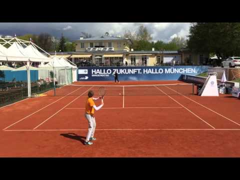 Alexander Zverev Practice / Court Level View / Munich /BMW Open