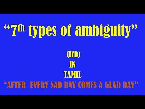 THE SEVENTH TYPE OF AMBIGUITY(TRB)