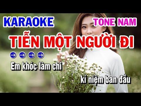 Tiễn Một Người Đi   Karaoke   Nhạc Sống Tone Nam Beat Cực Chất   Karaoke Thanh Hải