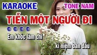 Tiễn Một Người Đi | Karaoke | Nhạc Sống Tone Nam Beat Cực Chất | Karaoke Thanh Hải