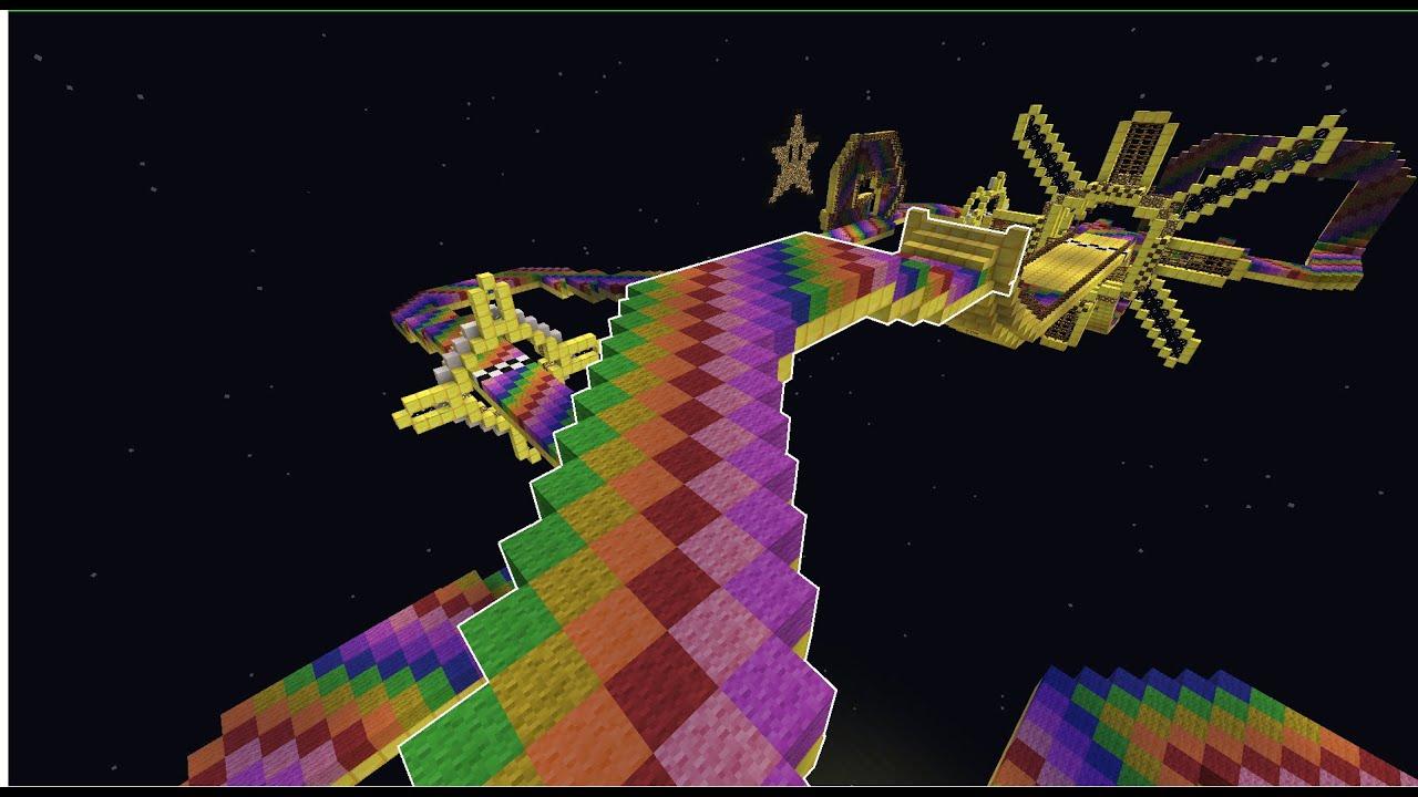 Minecraft Mario Kart 8 N64 Rainbow Road Youtube